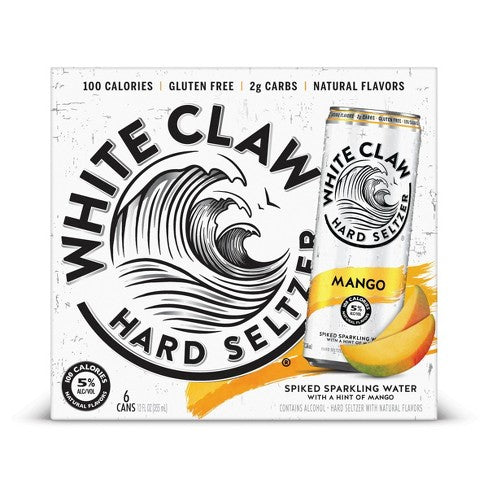 White Claw Hard Seltzer, Mango, 6 Pack Cans briansdiscountmarket