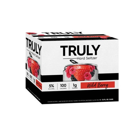 Truly Hard Seltzer Wild Berry Spiked & Sparking Water briansdiscountmarket