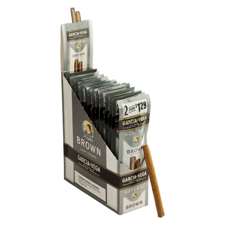Garcia y Vega Natural Cigarillos, Brown (Pack of 2)