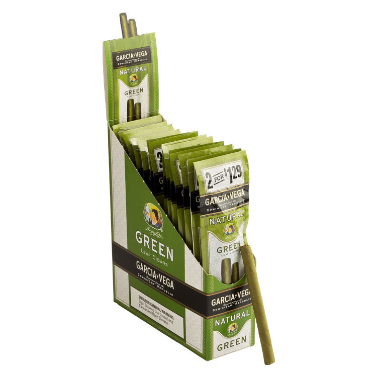 Garcia y Vega Natural Cigarrillos, Green (Pack of 2)