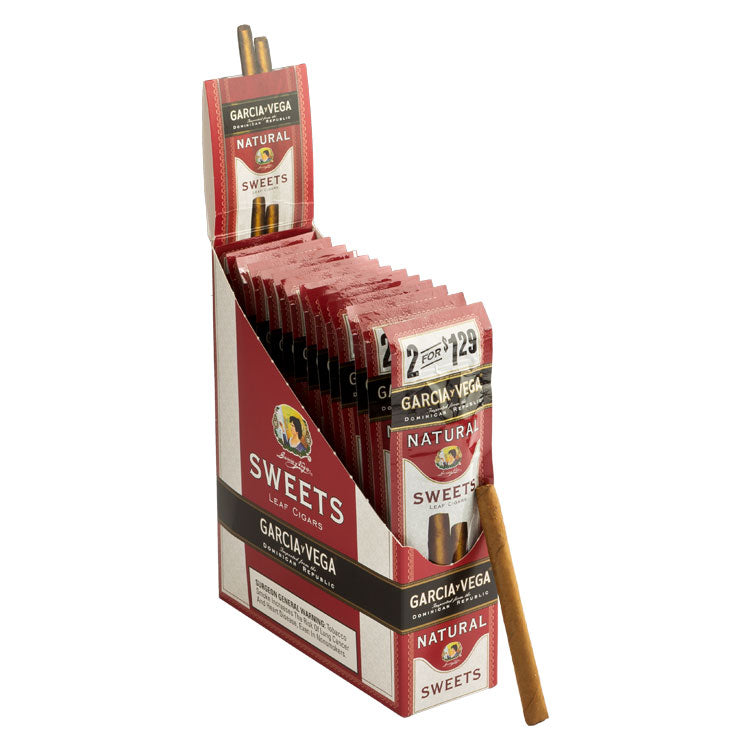 Garcia y Vega Natural Cigarillos, Sweets (Pack of 2)