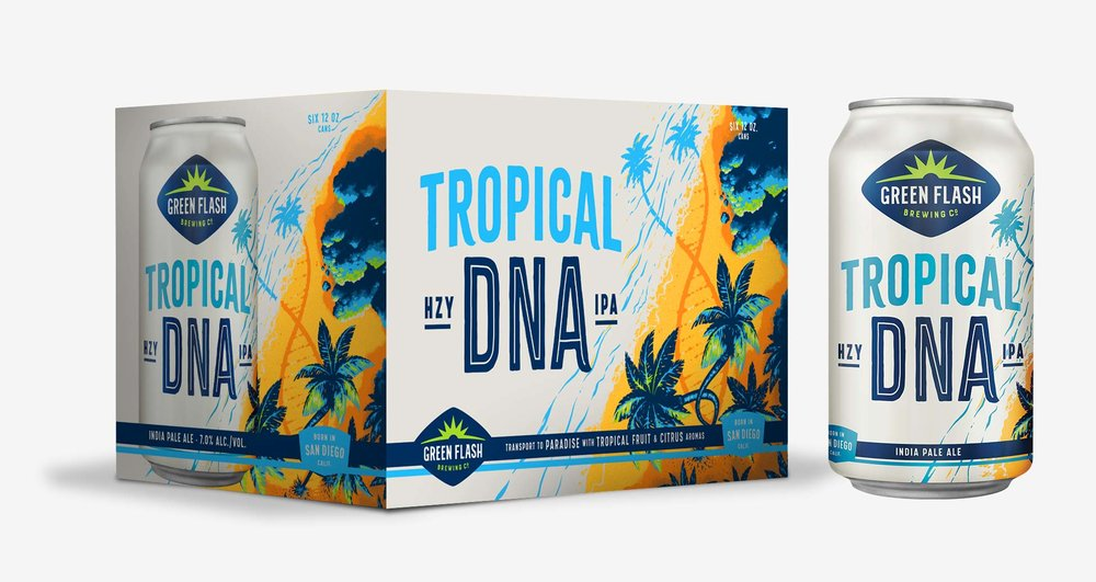 Green Flash Tropical DNA IPA , 6 cans briansdiscountmarket