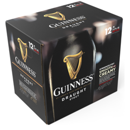 Guinness Draught Stout Bottle, 12 pack, 11.2oz