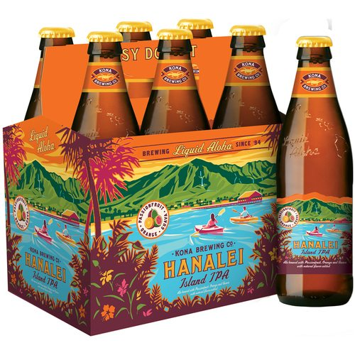 Kona Brewing Co. Hanalei Islan IPA, 6 Pack Bottle