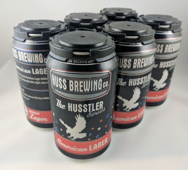 Huss Brewing Co, The Husstler Series , American Lager 6 Pack Can.