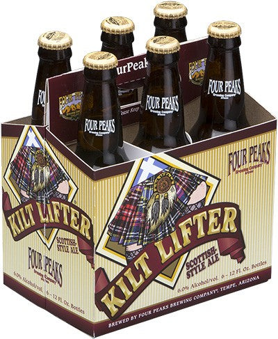 Four Peaks Brewing Co, Kilt Lifter Scottish-Style Ale, 6 Pack 12 Oz Bottle