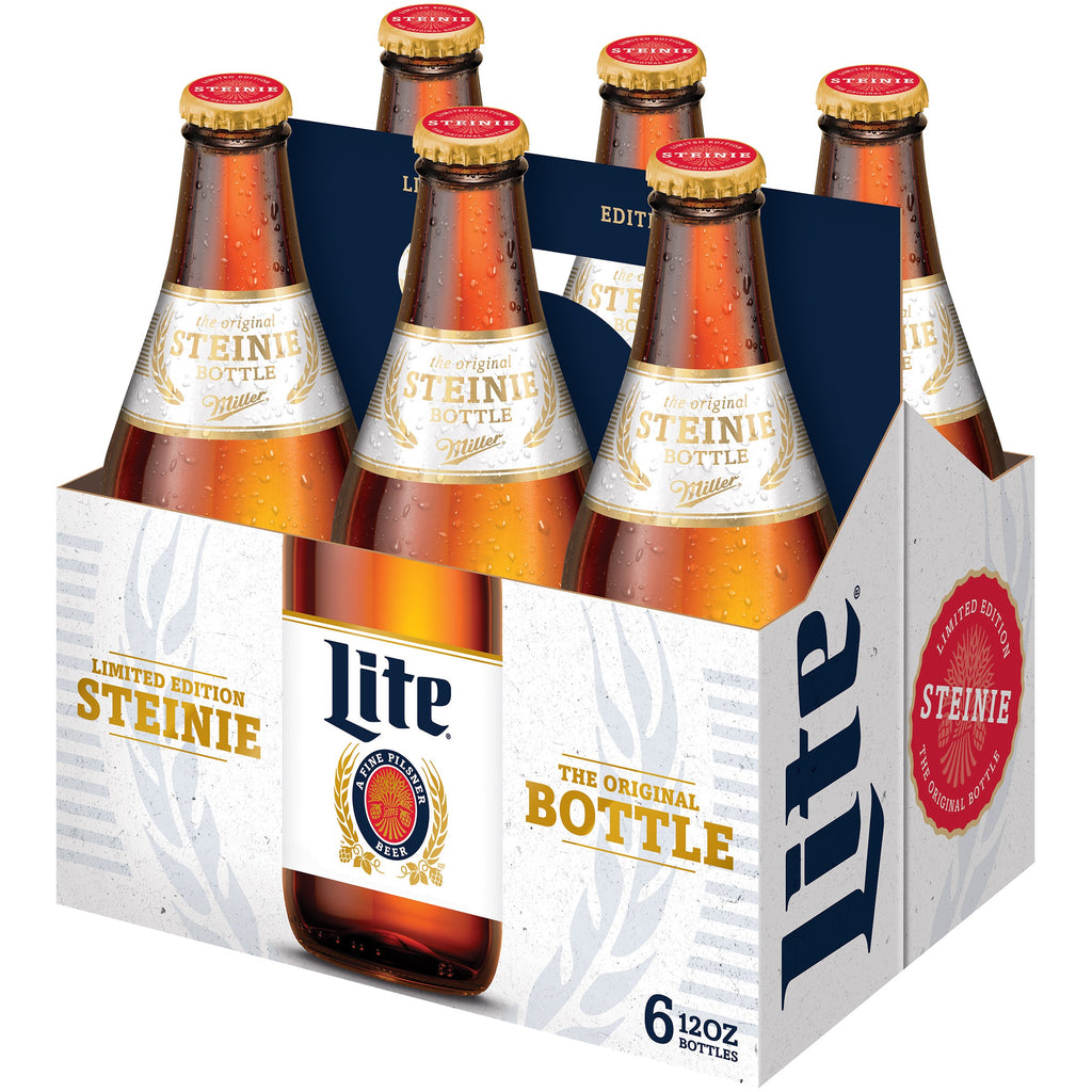 Miller Lite Steinie Limited Edition Beer, 6 pack, 12 fl oz