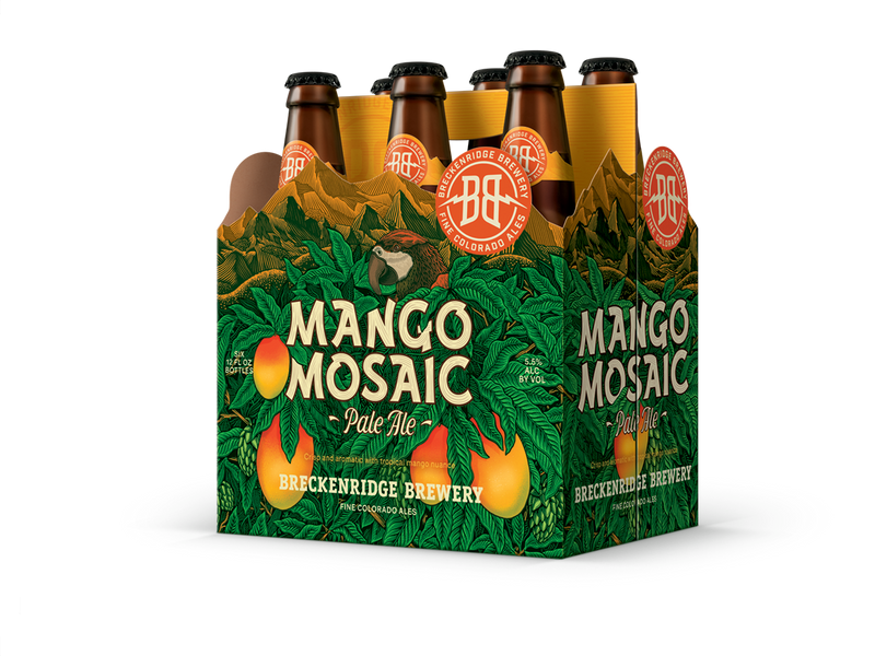 Breckenridge Brewery, Mango Mosaic Pale Ale, 6 Pack Bottle