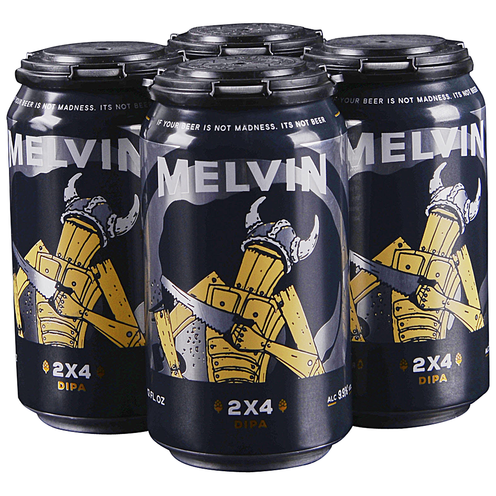 Melvin 2x4 DIPA, 4 Pack Cans.