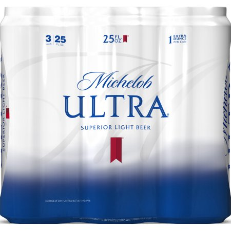 Michelob Ultra Light Beer, 3 pack, 25 fl oz Can