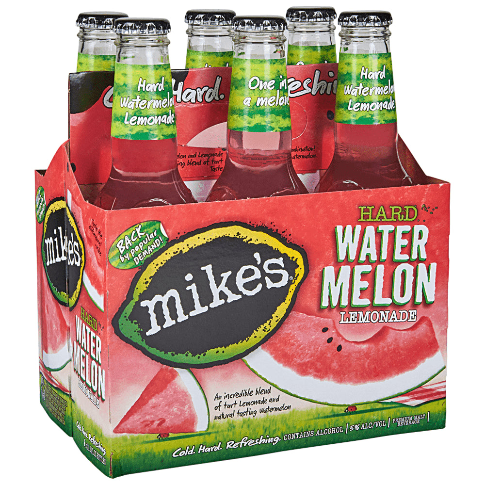 Mike's Hard Watermelon Lemonade, 6 Pack 12oz Bottle