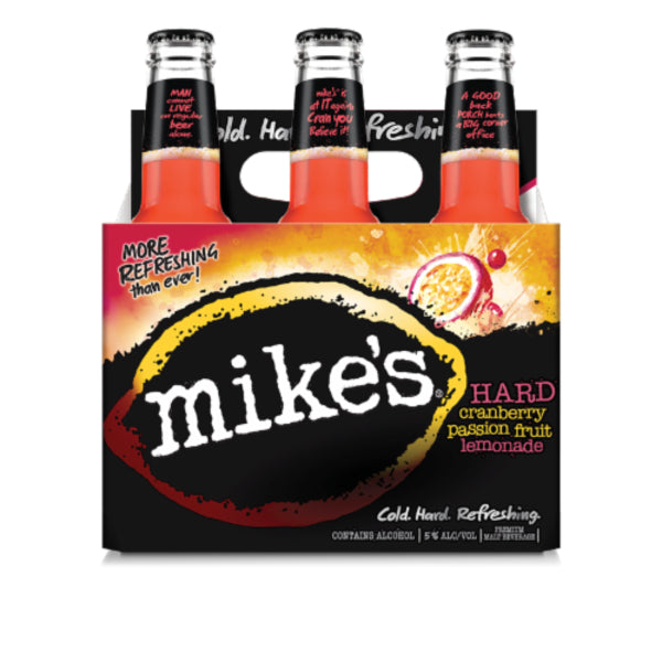 Mike's® Hard Cranberry Passion Fruit Lemonade, 6 Pack 12oz Bottle