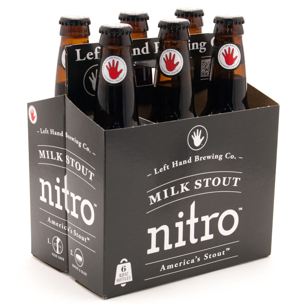 Left Hand Brewing Co, Milk Stout Nitro , 6 Pack Bottle