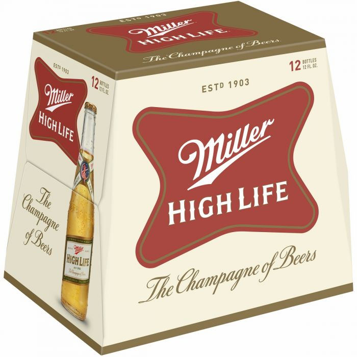 Miller High Life Longneck Beer, 12 Pack, 12 Oz Bottle