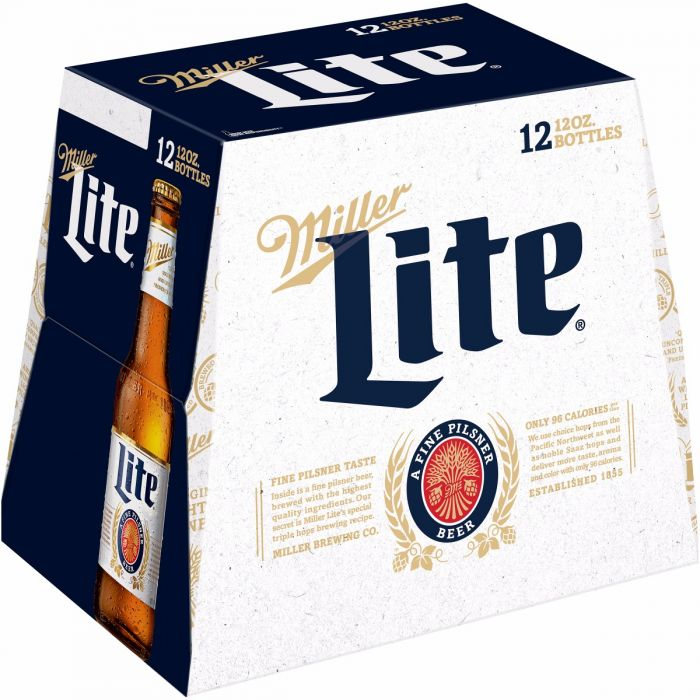 Miller Lite Beer, 12 Pack , 12 oz Bottle