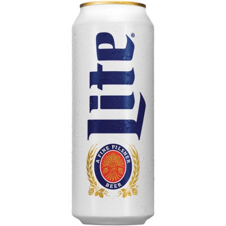 Miller Lite Beer, 24 fl oz Can