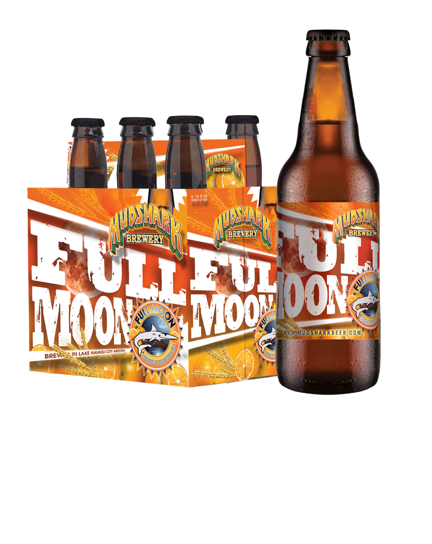 Full Moon (Belgian Style White Ale) Mudshark, 6 pack, 12oz Bottle