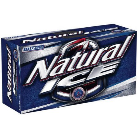 Natural Ice Beer, 18 pack, 12 fl oz Can