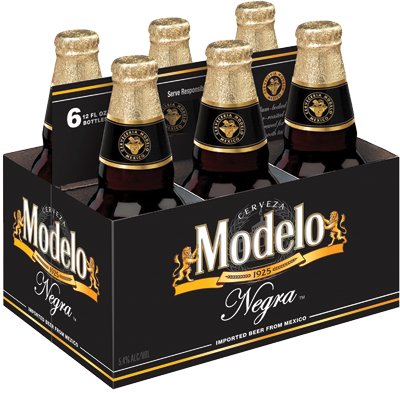 Modelo Negra Beer, 6 pack, 12 fl oz Bottle