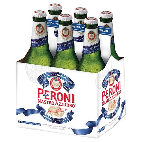 Peroni Nastro Azzurro, 6 Pack Bottle
