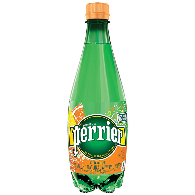 Perrier Carbonated Mineral Water, L'Orange