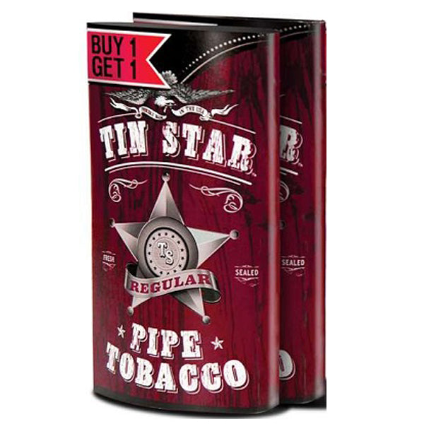 Tin Star Pipe Tobacco, Buy 1 Get 1 Free, Regular