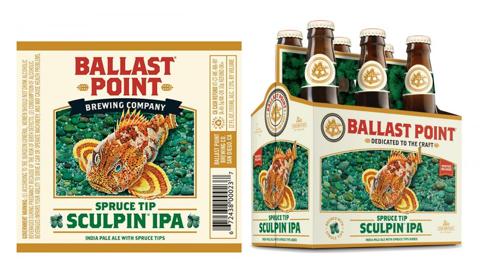 Ballast Point Brewing, Spruce Tip Sculpin IPA, 6 Bottles briansdiscountmarket