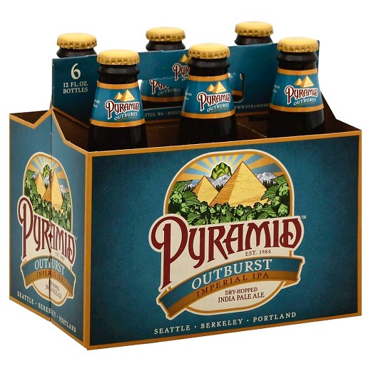 Pyramid Outburst, Imperial IPA, 6 Packs Bottle. briansdiscountmarket