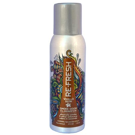 Re-Fresh Smoke Odor Eliminator, Vanilla Bean Scent, 4FL OZ Can