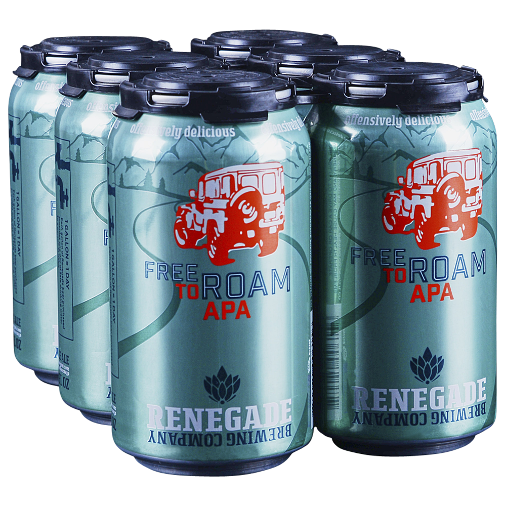 Renegade Brewing Company, Free to Roam APA, 6 Pack Cans