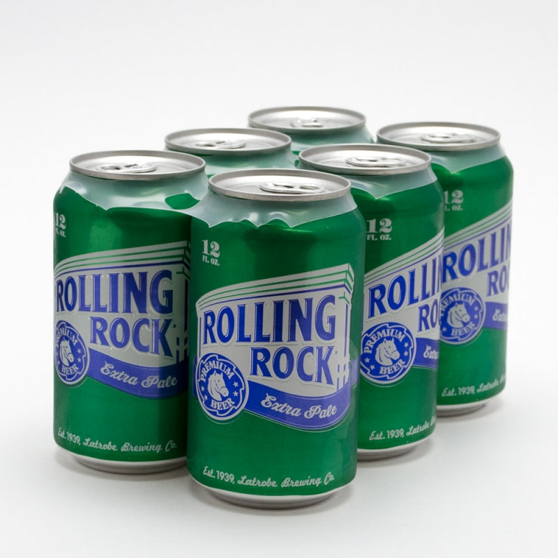 Rolling Rock - Extra Pale Premium Beer , 6 Pack, 12oz Can