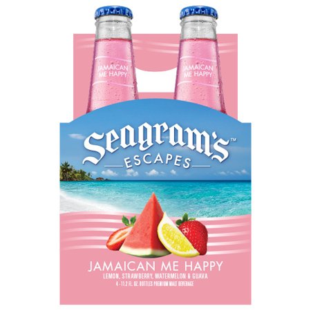 Seagram's Escapes, Jamaican Me Happy , 4 Pack Bottles