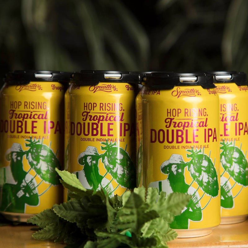 Squatters, Hop Rising Tropical Double IPA,6 Pack Cans