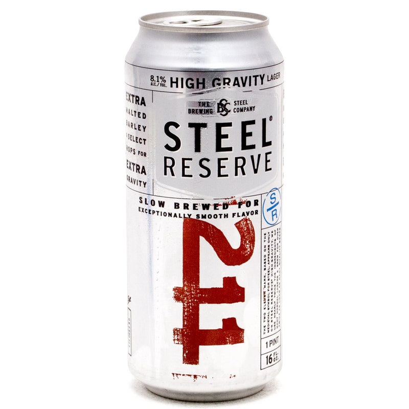 Steel Reserve High Gravity Lager Beer, 16 oz Can