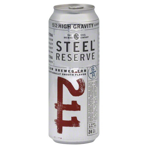 Steel Reserve High Gravity Lager, 24 oz Can