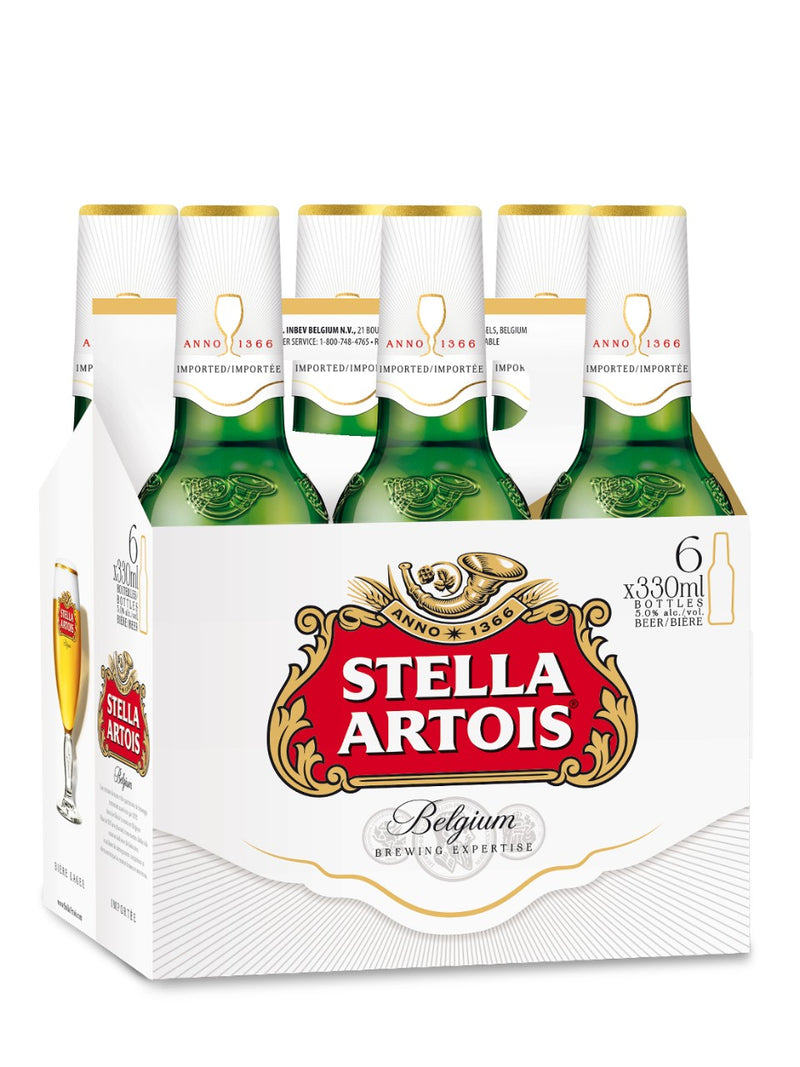 Stella Artois Beer, 6 pack, 11.2 fl oz Bottle