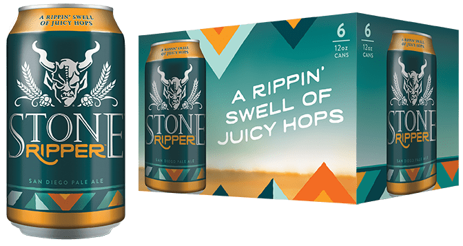 Stone Brewing, Ripper San Diego Pale Ale, 6 Pack 12 oz Cans