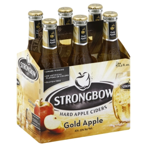 Strongbow Hard Apple Ciders Gold Apple, 6 Pack Bottle briansdiscountmarket