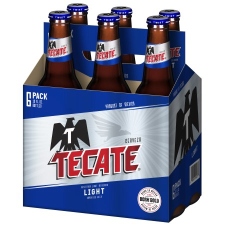 Tecate Light, 6 pack, 12 fl oz Bottle