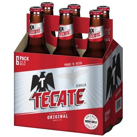 Tecate Mexican Beer, 6 pack, 12 fl oz Bottle