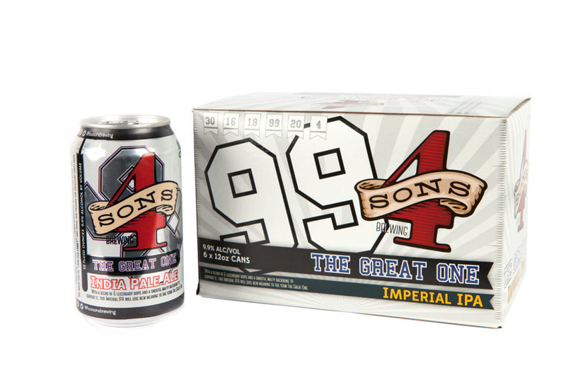 4 Sons Brewing, The Great One Imperial IPA, 6 Cans briansdiscountmarket