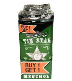 Tin Star Pipe Tobacco, Buy 1 Get 1 Free, Menthol