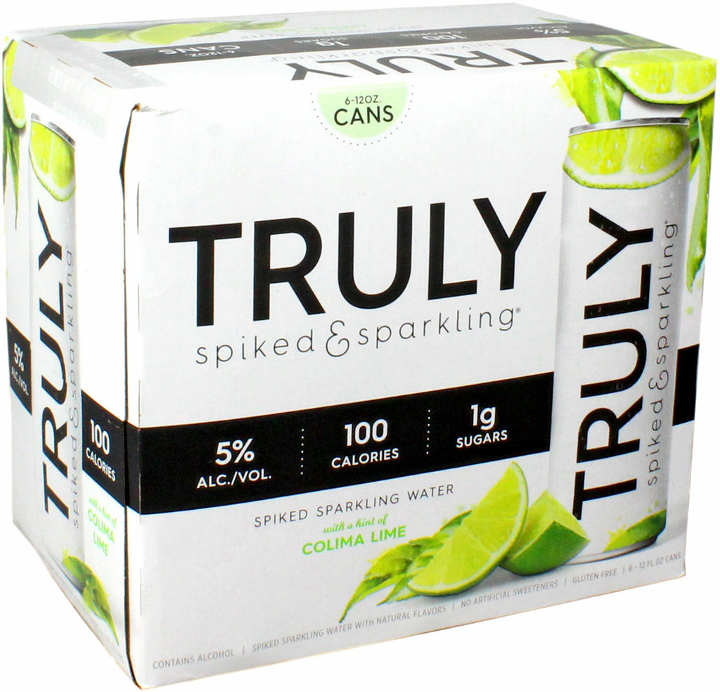Truly Spiked & Sparkling Water, Colima Lime, 6 Pack  briansdiscountmarket