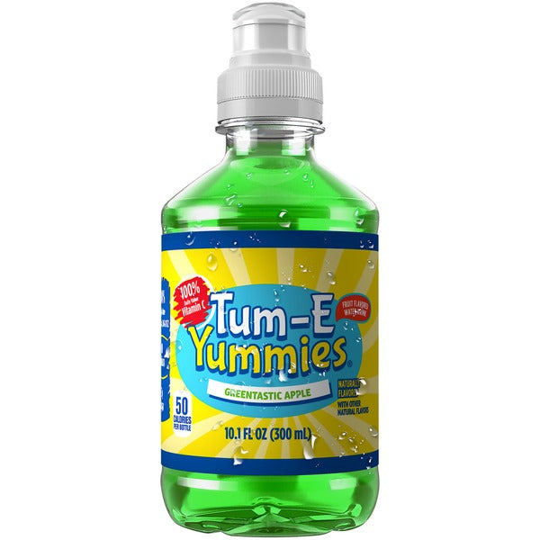 Tum E Yummies Greentastic Apple Fruit Flavored Drink, 10.1 oz