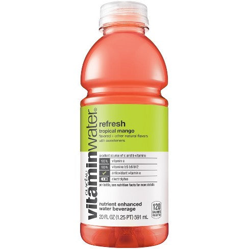 Vitamin Water Tropical Mango, 20 oz