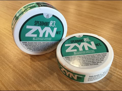 Zyn NT - Spearmint  (03 and 06) ea