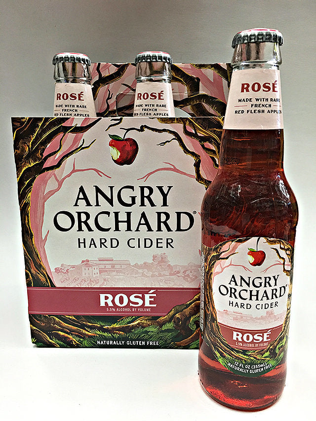 Angry Orchard Rose Hard Cider, 6 pack 12oz Bottles briansdiscountmarket