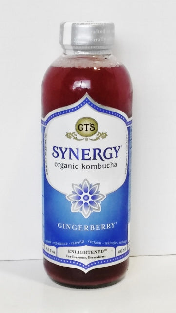 GT'S, Synergy Organic Kombucha Gingerberry 16.2 Oz  Brian's discount market