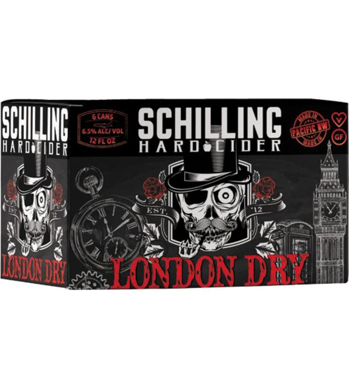 Schilling Hard Cider, London Dry, 6 Pack Cans briansdiscountmarket