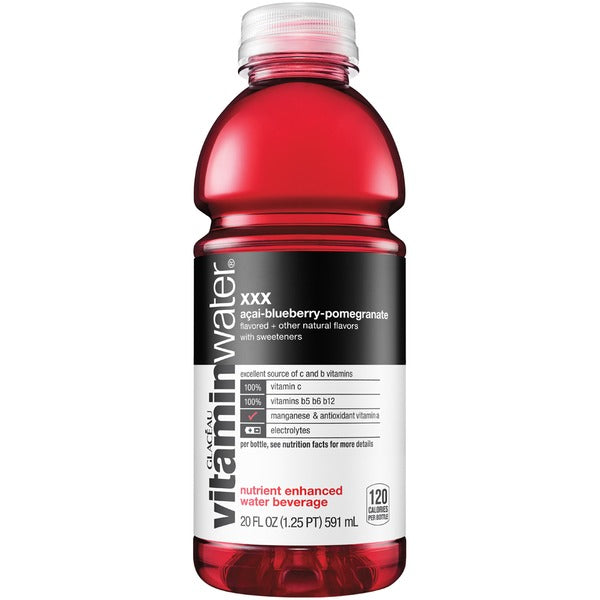 Glaceau Vitamin Water XXX Acai-Blueberry-Pomegranate, 20 oz